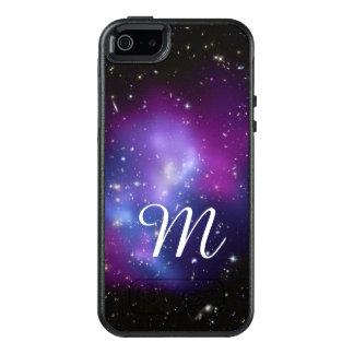 Coque OtterBox iPhone 5, 5s Et SE Monogramme pourpre de groupe de galaxie