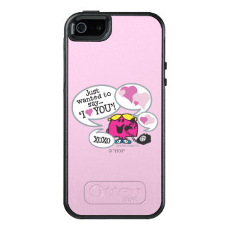 Coque OtterBox iPhone 5, 5s Et SE Petite Mlle Chatterbox Says je t'aime