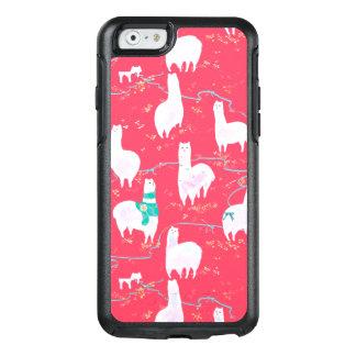 Coque OtterBox iPhone 6/6s Arrière - plan mignon de rouge d'illustration du