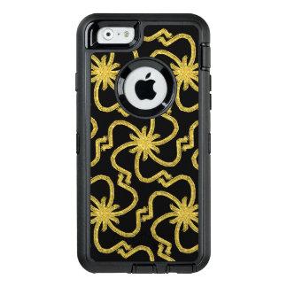 Coque OtterBox iPhone 6/6s Art déco lamé d'or Starbursts de fil de joli Faux