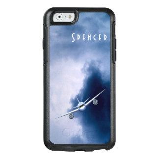 Coque OtterBox iPhone 6/6s Avion à réaction bleu d'aviation pilote dans les