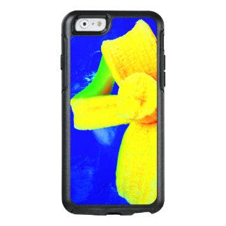 Coque OtterBox iPhone 6/6s Banane sur la caisse bleue de téléphone