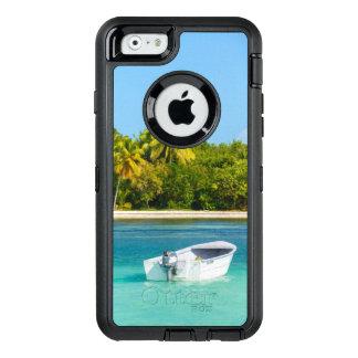 Coque OtterBox iPhone 6/6s Bateau de pêche tropical de côte dans l'eau de