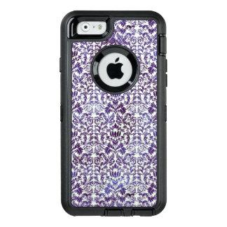 Coque OtterBox iPhone 6/6s Batik foncé élégant de damassé de pourpre royal
