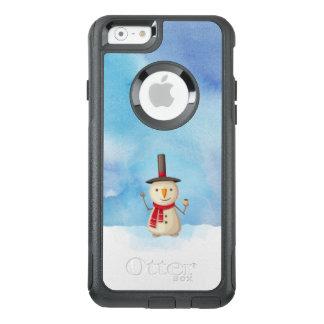 Coque OtterBox iPhone 6/6s Bonhomme de neige mignon de Noël ondulant et