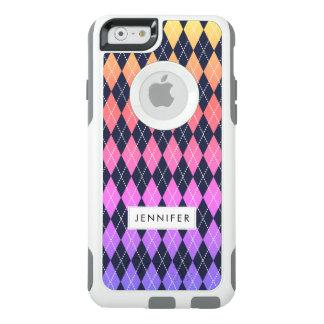 Coque OtterBox iPhone 6/6s Caisse à motifs de losanges colorée de l'iPhone