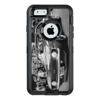 Coque OtterBox iPhone 6/6s Caisse noire et blanche de téléphone de Camaro