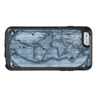 Coque OtterBox iPhone 6/6s Carte antique du monde dans le bleu