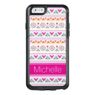 Coque OtterBox iPhone 6/6s Cas rose aztèque moderne mignon de l'iPhone 6/6s