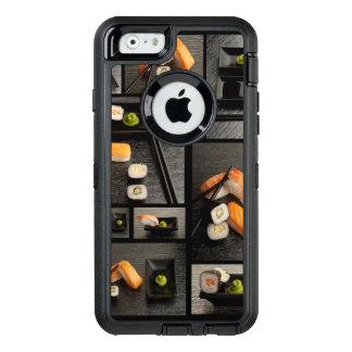 Coque OtterBox iPhone 6/6s Collection de sushi sur l'arrière - plan noir