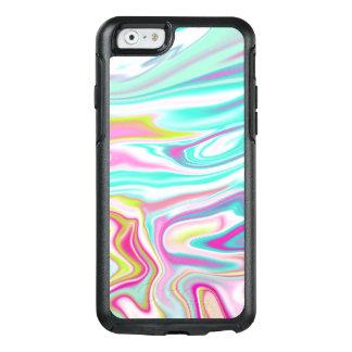 Coque OtterBox iPhone 6/6s Conception de marbre iridescente colorée