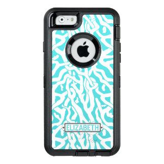 Coque OtterBox iPhone 6/6s Coutume bleue du blanc | d'Aqua nautique de plage