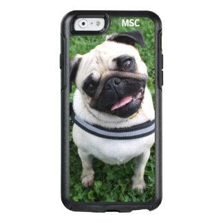 Coque OtterBox iPhone 6/6s Coutume mignonne de monogramme de chiot de carlin