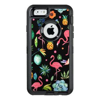 Coque OtterBox iPhone 6/6s Flamants avec les fleurs et les feuilles