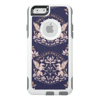 Coque OtterBox iPhone 6/6s Griffon noir debout avec le bagout de fleur