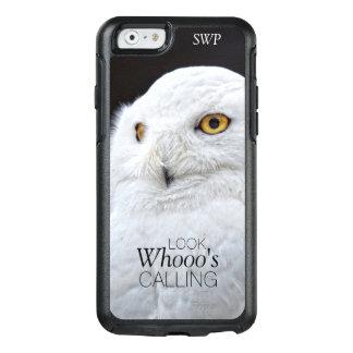 Coque OtterBox iPhone 6/6s Hibou blanc mignon drôle de Milou avec le