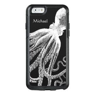 Coque OtterBox iPhone 6/6s Illustration vintage blanche noire de tentacules