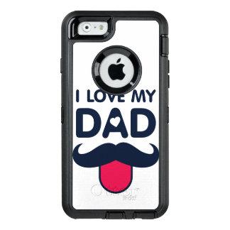 Coque OtterBox iPhone 6/6s J'aime mon icône mignonne de moustache de papa