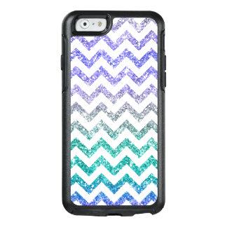 Coque OtterBox iPhone 6/6s Le scintillement pourpre bleu miroite blanc