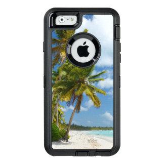 Coque OtterBox iPhone 6/6s L'eau tropicale de turquoise de plage et paumes