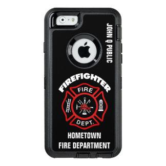 Coque OtterBox iPhone 6/6s Modèle rouge de nom de sapeur-pompier
