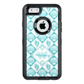 Coque OtterBox iPhone 6/6s Monogramme bleu nautique du blanc | de coquillages