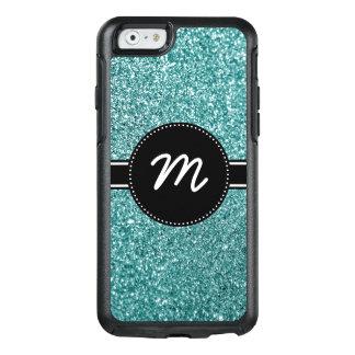 Coque OtterBox iPhone 6/6s Monogramme turquoise de scintillement