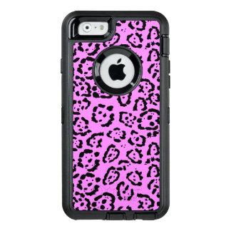 Coque OtterBox iPhone 6/6s Motif animal d'empreinte de léopard rose au néon