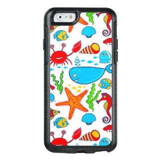 Coque OtterBox iPhone 6/6s Motif coloré drôle d'animaux de mer