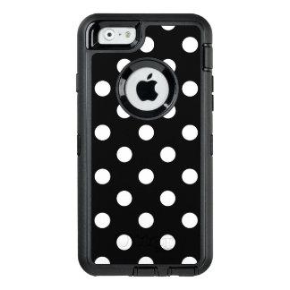 Coque OtterBox iPhone 6/6s Motif de pois noir et blanc