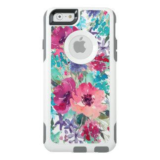 Coque OtterBox iPhone 6/6s Motif floral d'aquarelle colorée