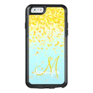 Coque OtterBox iPhone 6/6s Nom jaune d'or Girly d'ombre de turquoise de