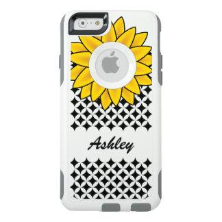 Coque OtterBox iPhone 6/6s Nom personnalisé Girly de tournesol jaune chic