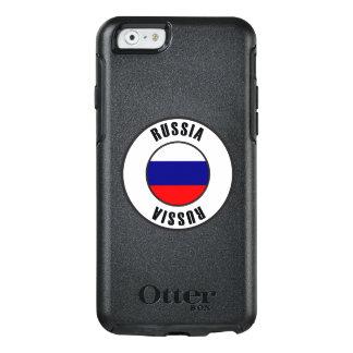Coque OtterBox iPhone 6/6s Obscurité simple de drapeau de la Russie