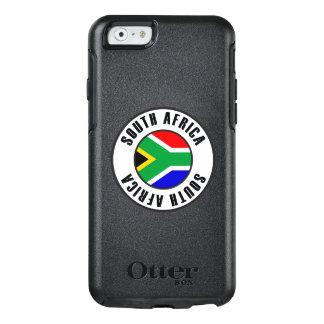 Coque OtterBox iPhone 6/6s Obscurité simple de drapeau de l'Afrique du Sud