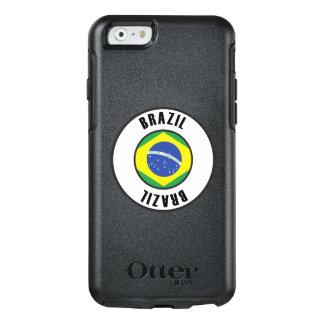 Coque OtterBox iPhone 6/6s Obscurité simple de drapeau du Brésil