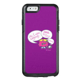 Coque OtterBox iPhone 6/6s Petite Mlle Chatterbox et téléphone