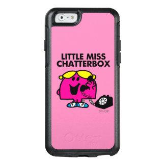 Coque OtterBox iPhone 6/6s Petite Mlle Chatterbox et téléphone noir