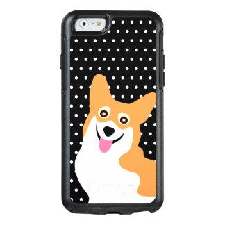 Coque OtterBox iPhone 6/6s Point de polka heureux de chiot de corgi de