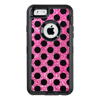 Coque OtterBox iPhone 6/6s Pois de noir de scintillement de roses indien