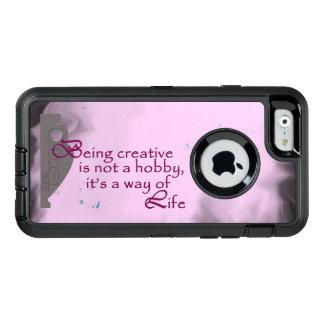 Coque OtterBox iPhone 6/6s Poterie créative sur un arrière - plan rose