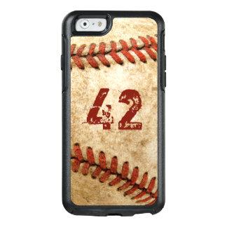 Coque OtterBox iPhone 6/6s Regard grunge de base-ball vintage avec votre