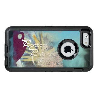 Coque OtterBox iPhone 6/6s Toute la poterie sur un arrière - plan bleu