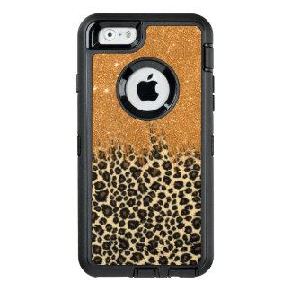 Coque OtterBox iPhone 6/6s Traçages de scintillement de Faux de léopard et