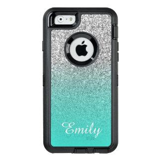 Coque OtterBox iPhone 6/6s Turquoise argentée Ombre de scintillement