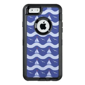 Coque OtterBox iPhone 6/6s Voiliers sur un motif rayé de mer