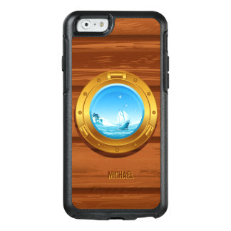Coque OtterBox iPhone 6/6s Vue marine de hublot de bateau de yacht