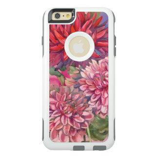 Coque OtterBox iPhone 6 Et 6s Plus aquarelle de fleurs de dahlias