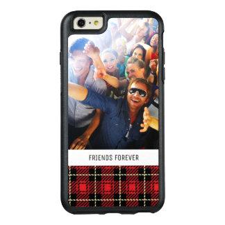 Coque OtterBox iPhone 6 Et 6s Plus Arrière - plan rouge fait sur commande de plaid de