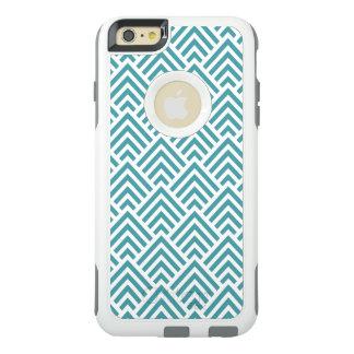 Coque OtterBox iPhone 6 Et 6s Plus Chevron vert et blanc frais